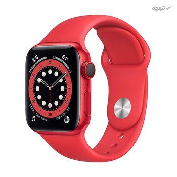 ساعت هوشمند اپل سری 6 مدل Aluminum Case 40mm با صفحه نمایش Retina LTPO OLED capacitive touchscreen, 16M colors