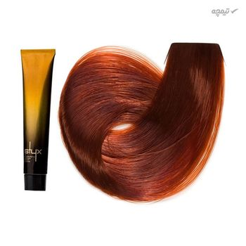 رنگ مو استایکس شماره 7.43 حجم 100 میلی لیتر رنگ بلوند تیتانی متوسط