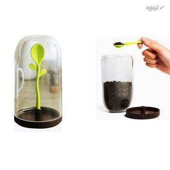 ظرف نگهدارنده چای و قهوه طرح برگ
