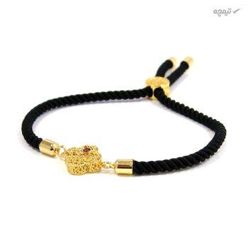 دستبند طلا 18 عیار زنانه مانچو کد bfg153