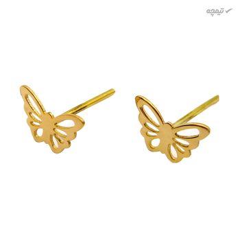 نیم ست طلا 18 عیار زنانه کاپانی طرح پروانه کد KS015