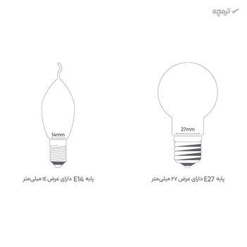 لامپ کم مصرف 60 وات زمرد پایه E27