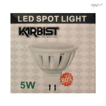 لامپ ال ای دی 5 وات کاربیست کد ECO 5  بسته 5 عددی