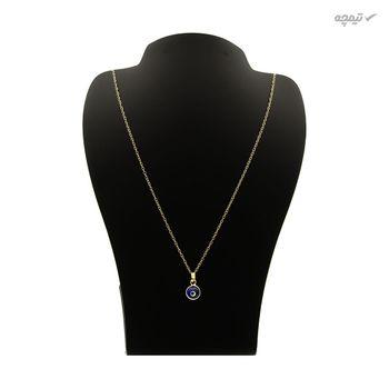 گردنبند طلا 18 عیار زنانه کاپانی طرح چشم نظر کد KN032