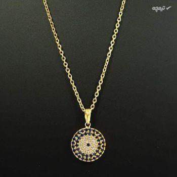 گردنبند طلا 18 عیار زنانه مانچو طرح چشم نظر مدل sfgs003