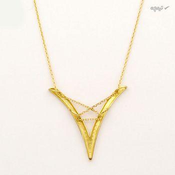 گردنبند طلا 18 عیار زنانه کاپانی کد KN016