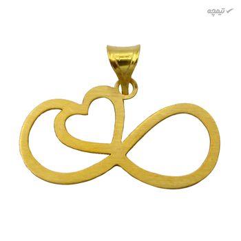 نیم ست طلا 18 عیار زنانه کاپانی طرح قلب و بی نهایت کد KS022