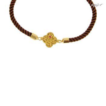 دستبند طلا 18 عیار زنانه مانچو کد BFG156
