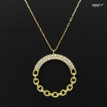 گردنبند طلا 18 عیار زنانه کاپانی طرح جواهر کد KN040
