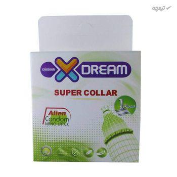 کاندوم ایکس دریم مدل Super Collar به همراه کاندوم بادی گارد مدل اکسترا سیف بسته 4 عددی
