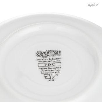 ست فنجان و نعلبکی 12 پارچه چینی زرین ایران سری ایتالیا اف مدل میبد درجه عالی