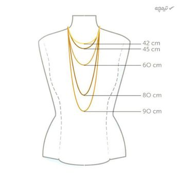 گردنبند طلا 18 عیار زنانه کاپانی طرح ستاره دریایی کد KN031