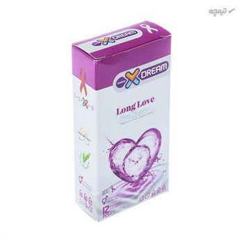 کاندوم ایکس دریم مدل Long Love بسته 12 عددی