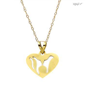 نیم ست طلا 18 عیار زنانه کاپانی طرح قلب کد KS02