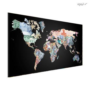 تابلو بوم مدل نقشه جهان کد TS-407