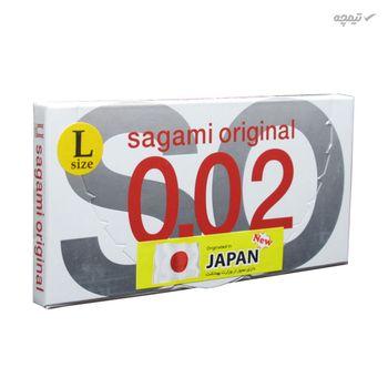 کاندوم بسیار نازک ساگامی مدل Large بسته 2 عددی