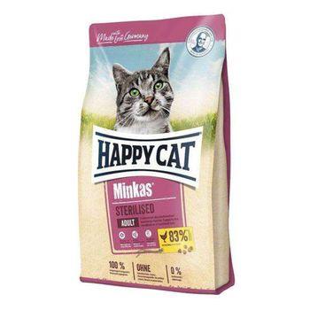 غذای خشک گربه بالغ هپی کت مدل Minkas Sterilised وزن 10 کیلوگرم