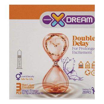 کاندوم ایکس دریم مدل Double Delay بسته 3 عددی