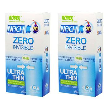 کاندوم ناچ کدکس مدل Zero Invisible مجموعه 2 عددی