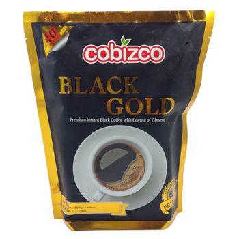پودر قهوه فوری حاوی جنسینگ کوبیزکو مدل BLACK GOLD بسته 40 ساشه ای