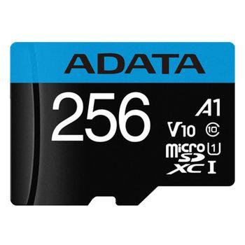 کارت حافظه microSDXC ای دیتا مدل premier کلاس 10 سرعت 100 MBps ظرفیت 256 گیگابایت به همراه آداپتور SD