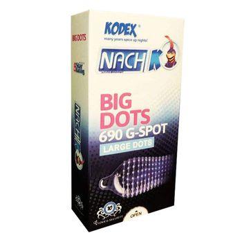 کاندوم خاردار ناچ کدکس مدل BIG DOTS بسته 1sahar0 عددی