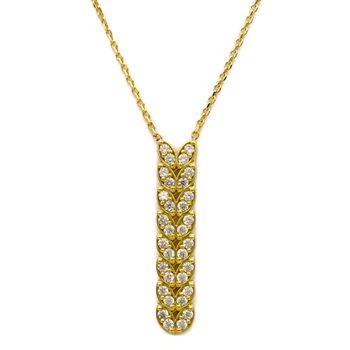 گردنبند طلا 18 عیار زنانه کاپانی کد KN039