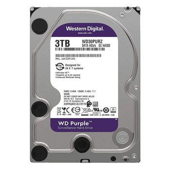 هارددیسک اینترنال وسترن دیجیتال مدل Purple WD30PURZ ظرفیت 3 ترابایت و بافر 64 مگابایت