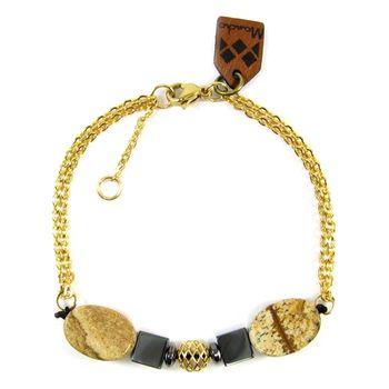 دستبند طلا 18عیار مانچو مدل bfg047