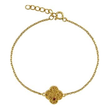 دستبند طلا 18 عیار زنانه مانچو کد bfgs006