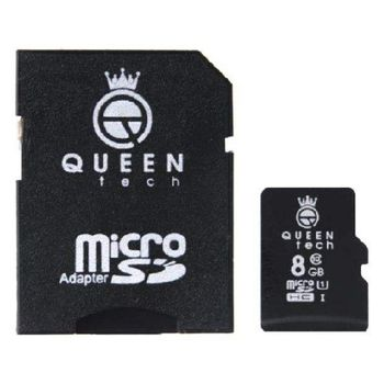 کارت حافظه microSDHC کوئین تک 300X کلاس 10 استاندارد UHS-I U1 سرعت 45MBps ظرفیت 8 گیگابایت به همراه آداپتور SD