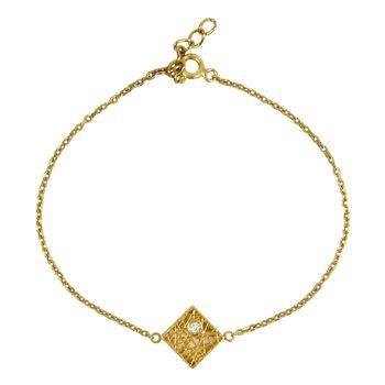 دستبند طلا 18 عیار زنانه مانچو کد BFGS007