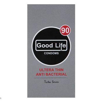 کاندوم بسیار نازک گودلایف مدل Ultra Thin Anti Bacterial بسته 12 عددی