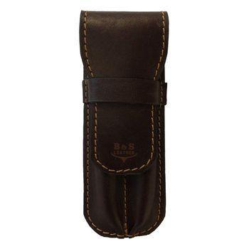 کیف خودکار چرم طبیعی دست دوز مدل G رنگ قهوه ای B&S Leather