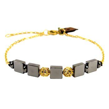 دستبند طلا 18 عیار مانچو مدل bfg055