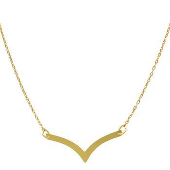 گردنبند طلا 18 عیار زنانه مانچو کد sfgs023