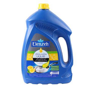 مایع ظرفشویی النزه مدل Lemon با رایحه لیمو حجم 3.75 لیتر
