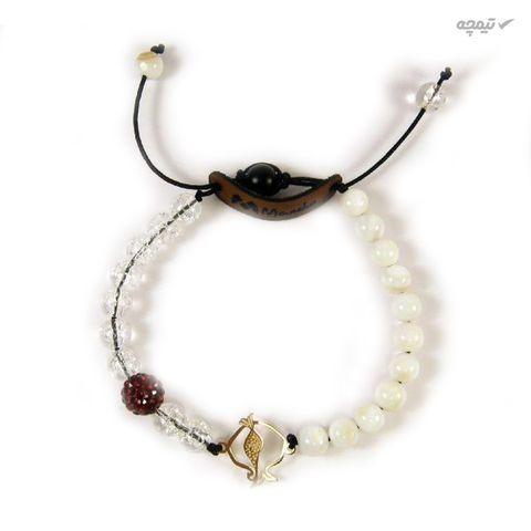 دستبند طلا 18عیار زنانه مانچو طرح انار یلدا مدل bfg101