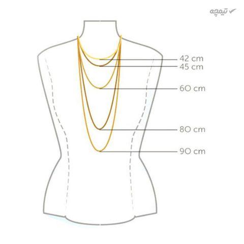 گردنبند طلا 18 عیار زنانه مانچو کد sfgs009