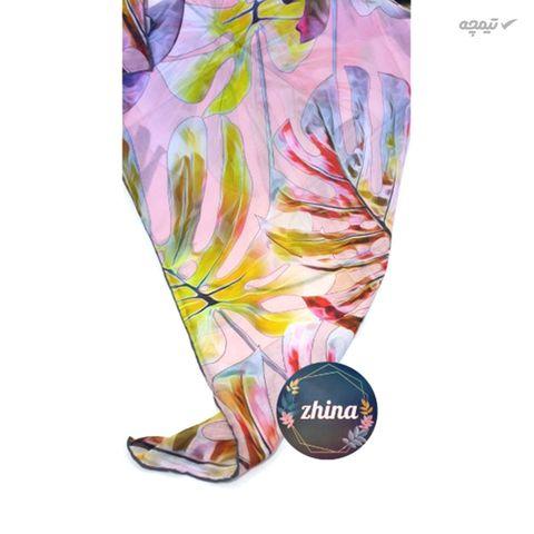 روسری زنانه ژینا طرح رنگی تابستانه سایز 140x140 سانتی متر