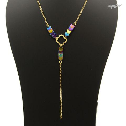 گردنبند طلا 18 عیار زنانه مانچو کد sfg653