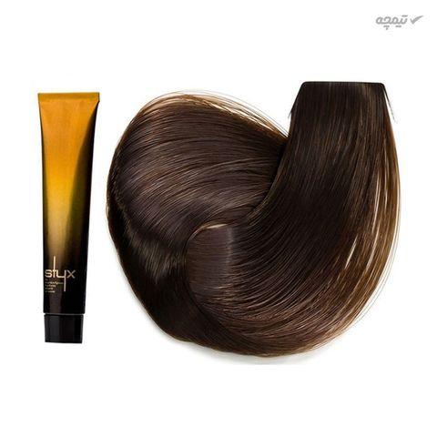 رنگ مو استایکس شماره 7.38 حجم 100 میلی لیتر رنگ بلوند گردویی متوسط