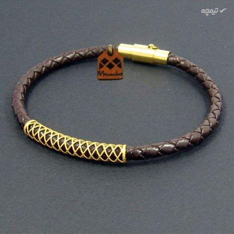 دستبند طلا 18 عیار زنانه مانچو مدل bfg149-w
