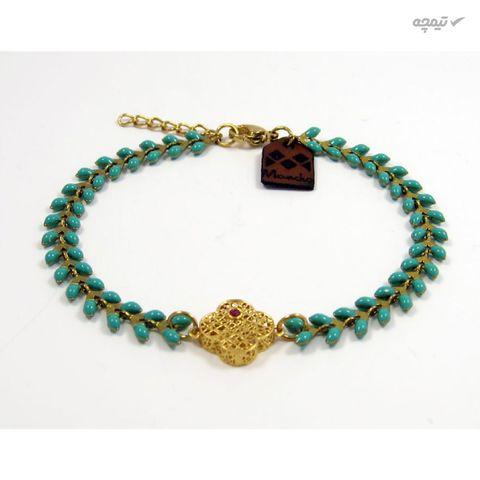 دستبند طلا 18عیار زنانه مانچو مدل bfg146