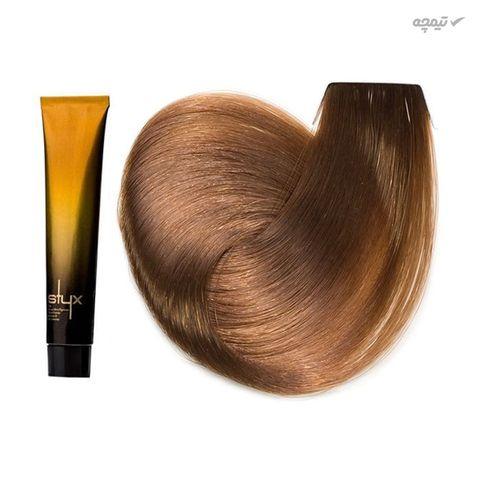 رنگ مو استایکس شماره 7.52 حجم 100 میلی لیتر رنگ بلوند مرواریدی ماهاگونی متوسط