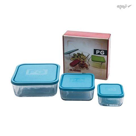 ظرف نگهدارنده غذا بلور کاوه مدل Classic بسته 3 عددی