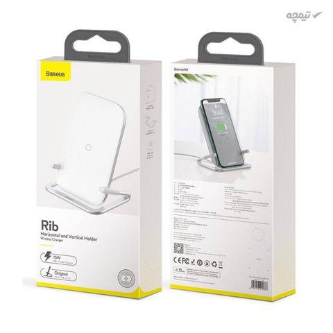 پایه نگهدارنده و هولدر گوشی موبایل با قابلیت شارژ بی سیم باسئوس مدل WXPG-01