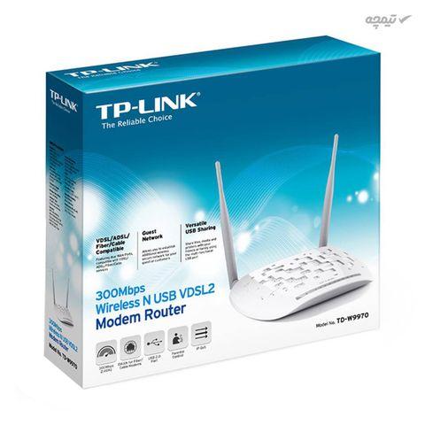 مودم روتر دو آنتن VDSL/ADSL تی پی لینک مدل TD-W9970_V2، سری N300، بیسیم
