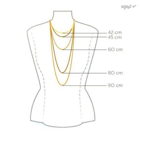 گردنبند طلا 18 عیار زنانه مانچو مدل sfg639