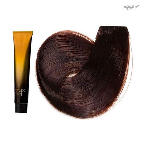 رنگ مو استایکس شماره 5.4 رنگ قهوه ای مسی روشن حجم 100 میلی لیتر